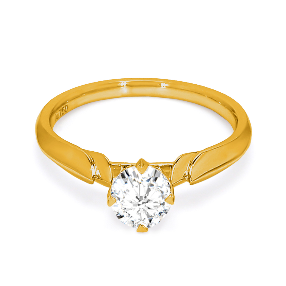 18K Yellow Gold Terra Diamond Engagement Ring
