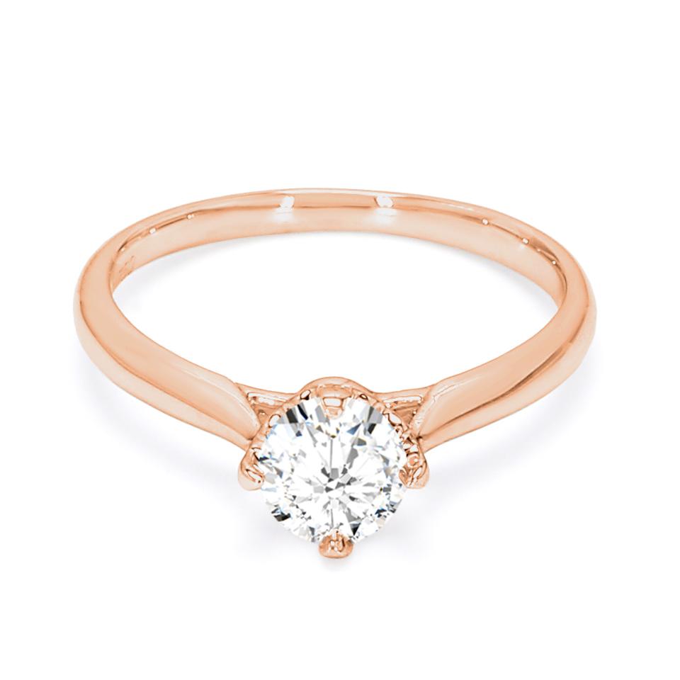 18K Rose Gold Sona Diamond Engagement Ring