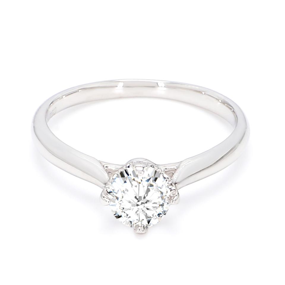 18K White Gold Sona Diamond Engagement Ring