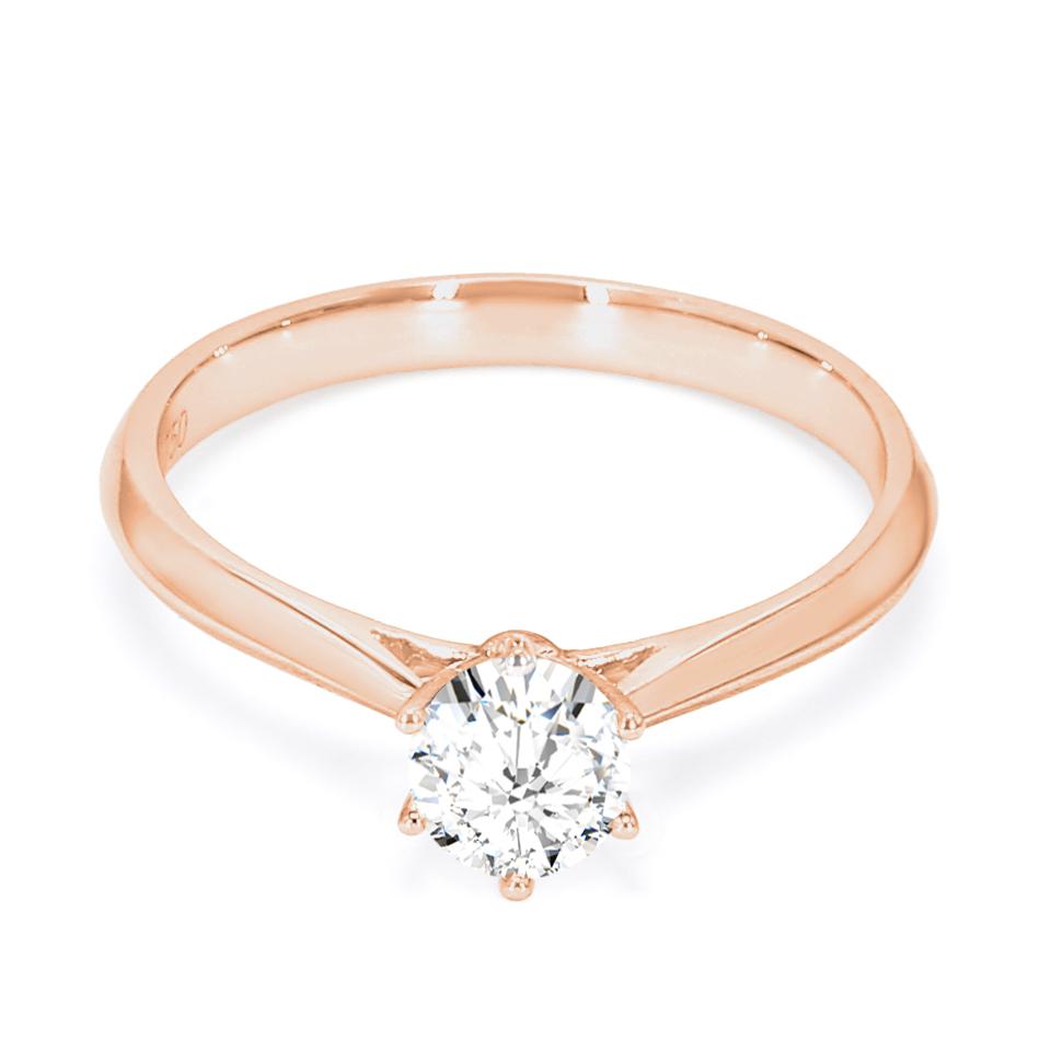 18K Rose Gold Beaut Diamond Engagement Ring