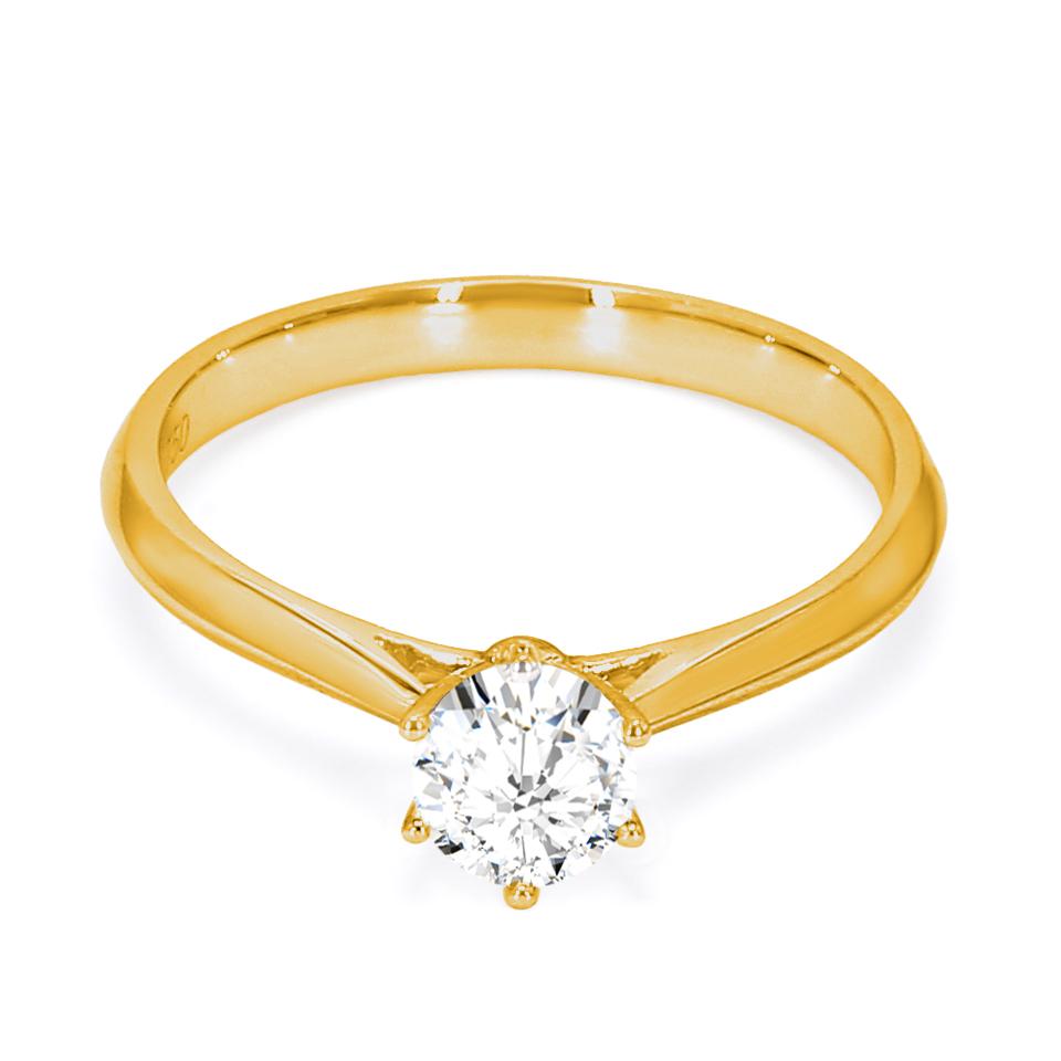 18K Yellow Gold Beaut Diamond Engagement Ring