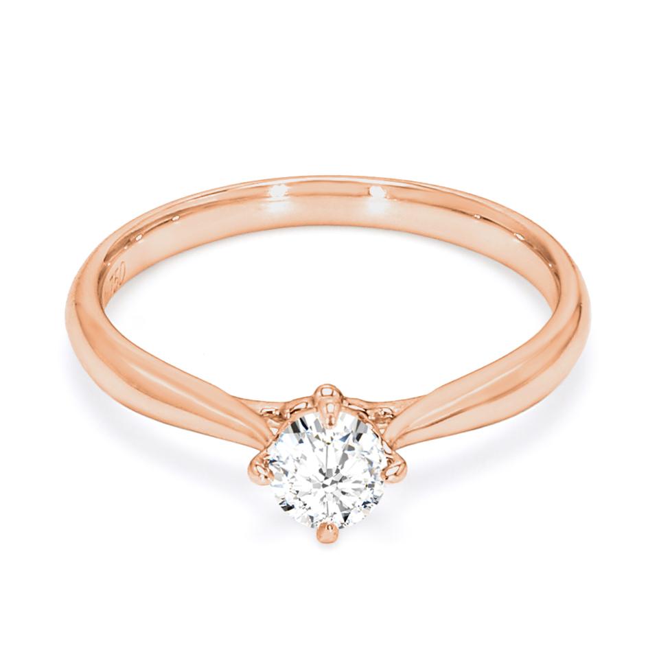 18K Rose Gold Seraphim Diamond Engagement Ring