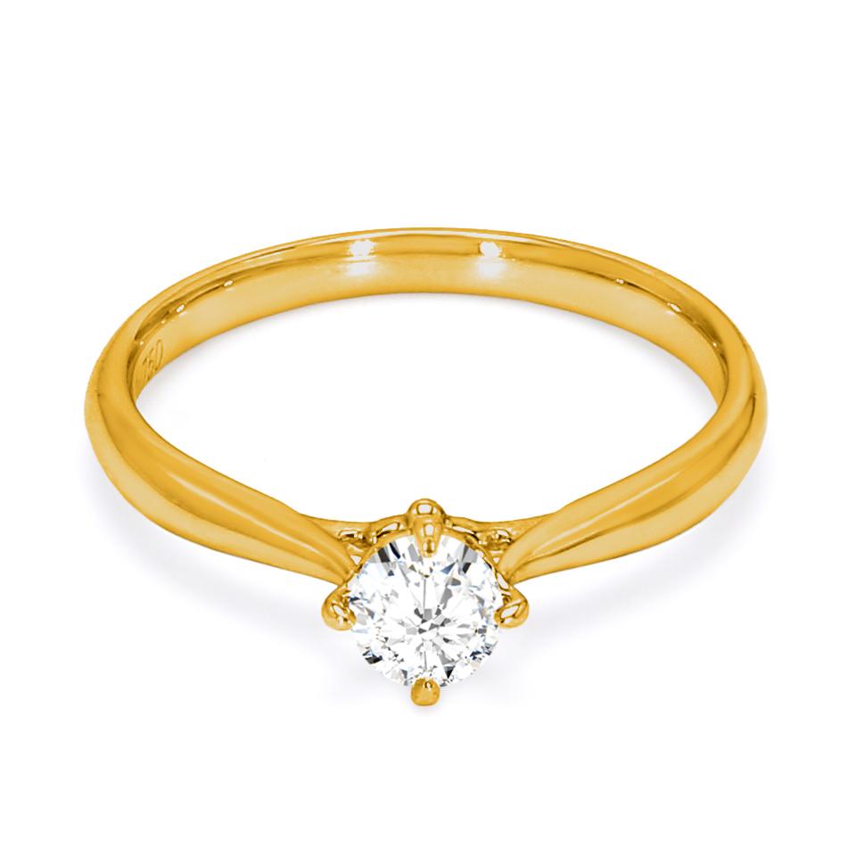 18K Yellow Gold Seraphim Diamond Engagement Ring
