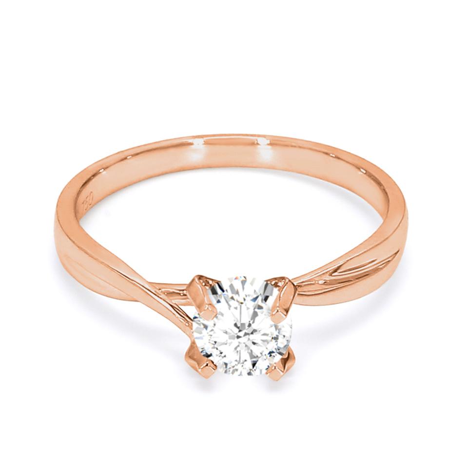 18K Rose Gold Aria Diamond Engagement Ring