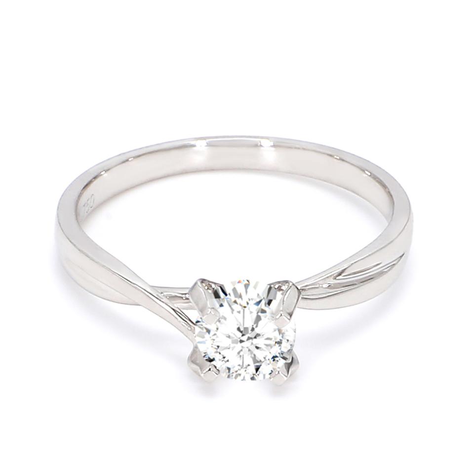 18K White Gold Aria Diamond Engagement Ring