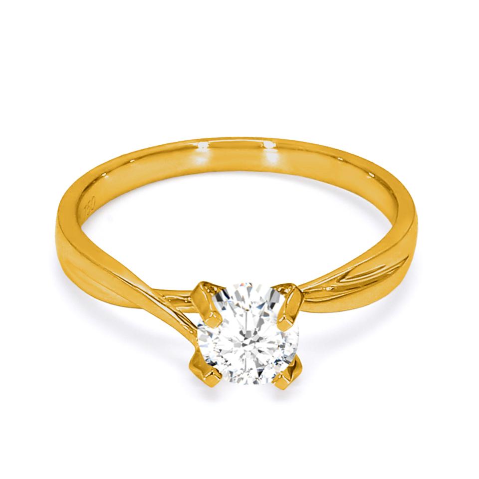 18K Yellow Gold Aria Diamond Engagement Ring