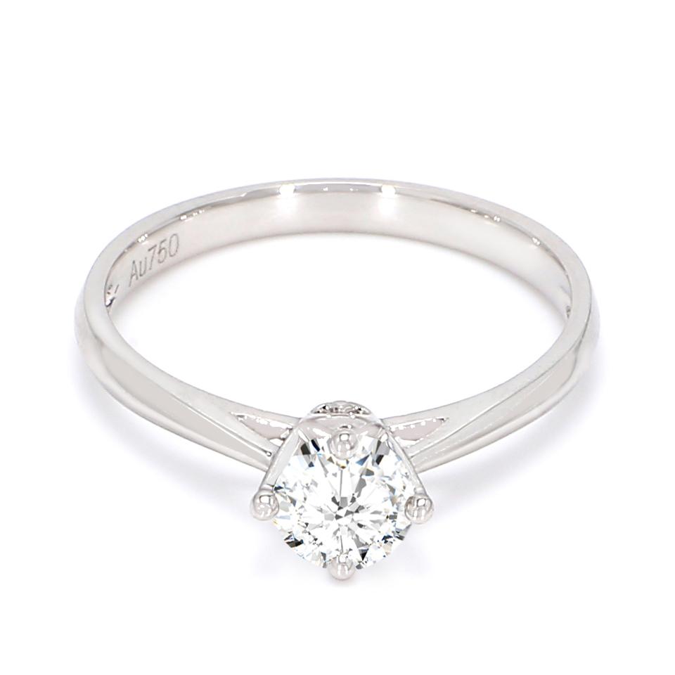 18K White Gold Luna Diamond Engagement Ring