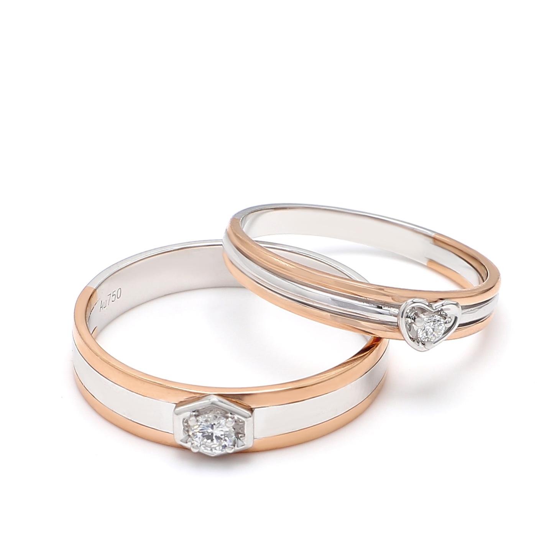 18K Two Tone Artemis Diamond Wedding Band