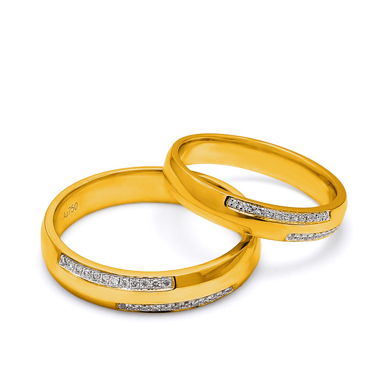 18K Yellow Gold Olivia Diamond Wedding Band