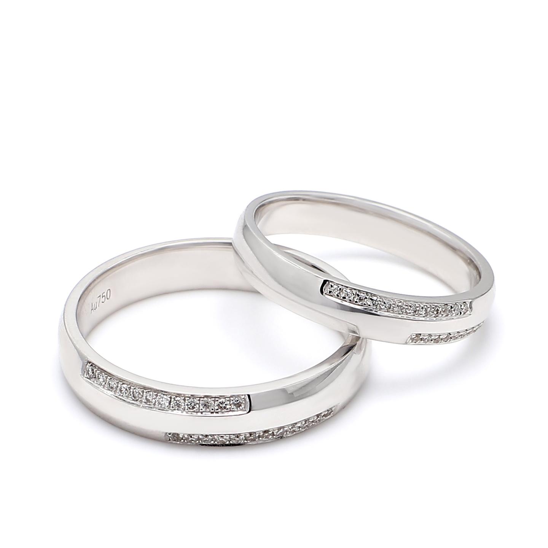 18K White Gold Olivia Diamond Wedding Band