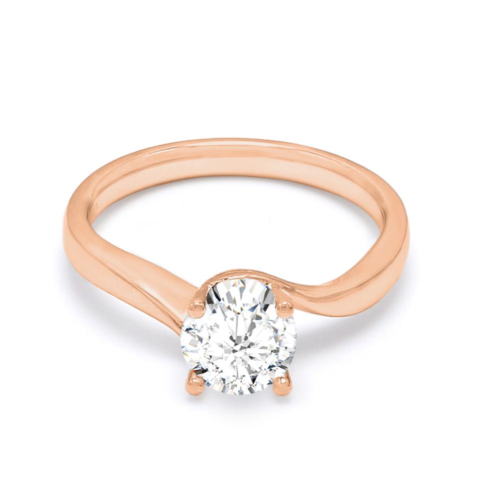 18K Rose Gold Cosmos Diamond Engagement Ring