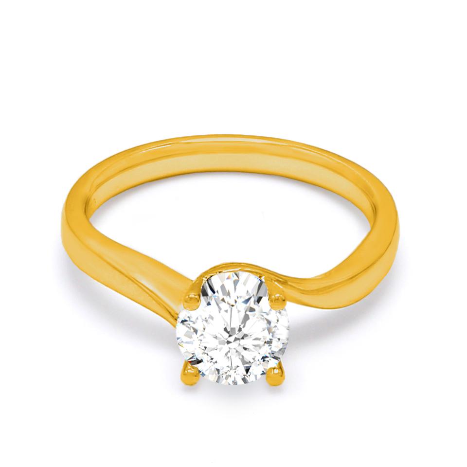 18K Yellow Gold Cosmos Diamond Engagement Ring