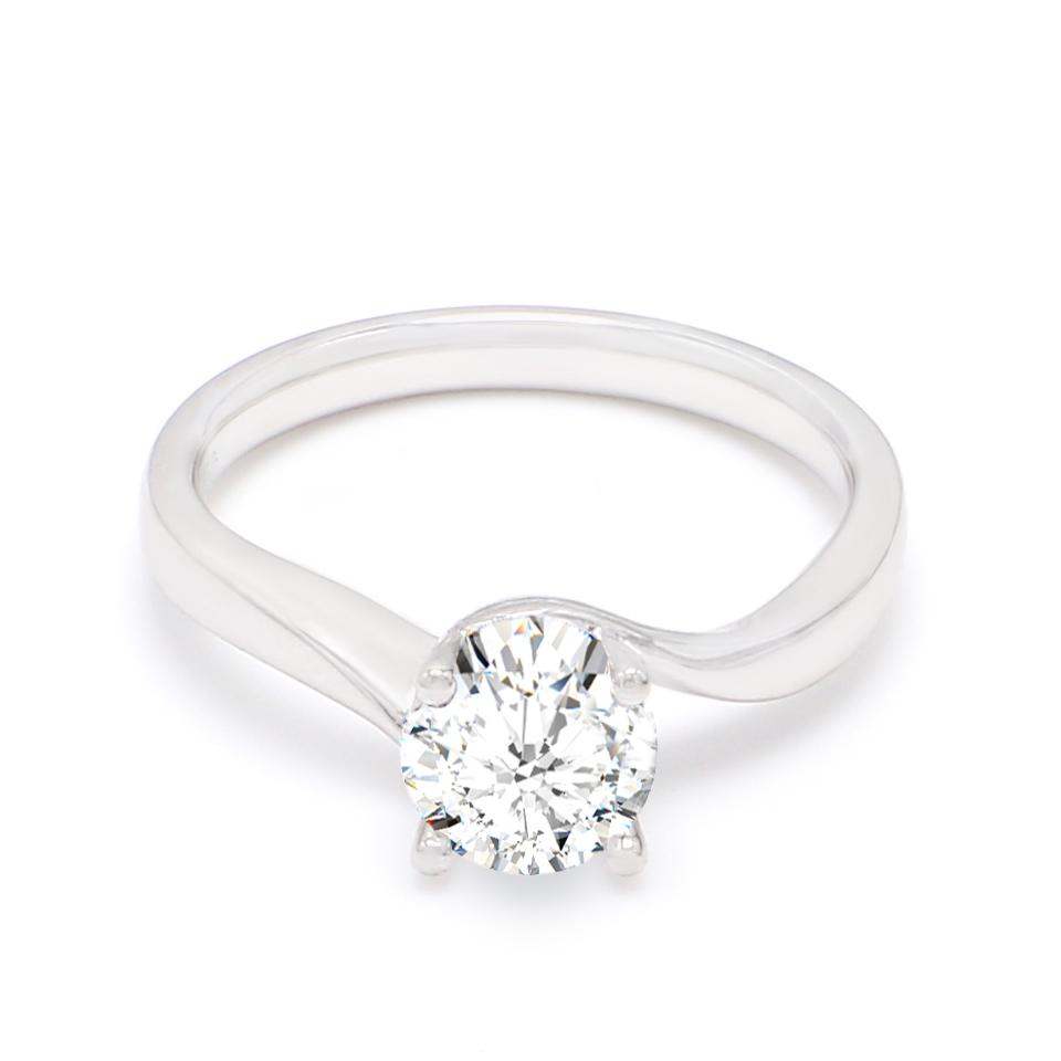 18K White Gold Cosmos Diamond Engagement Ring