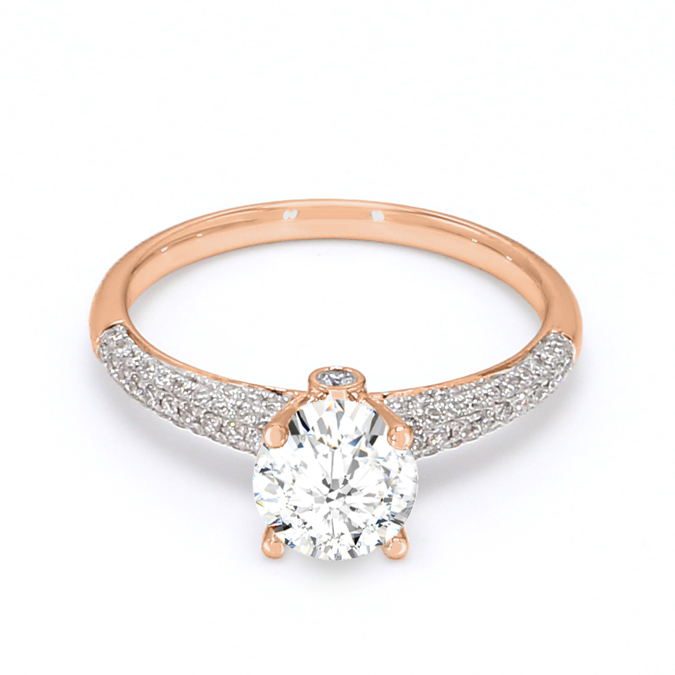 18K Rose Gold Estella Diamond Engagement Ring