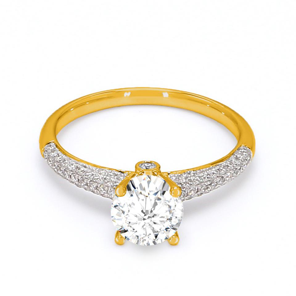 18K Yellow Gold Estella Diamond Engagement Ring