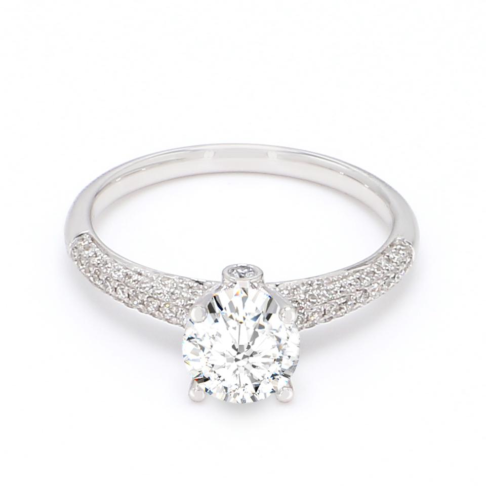 18K White Gold Estella Diamond Engagement Ring
