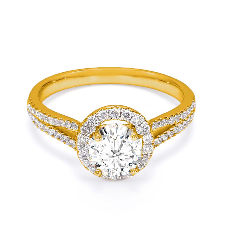 18K Yellow Gold Astra Diamond Engagement Ring