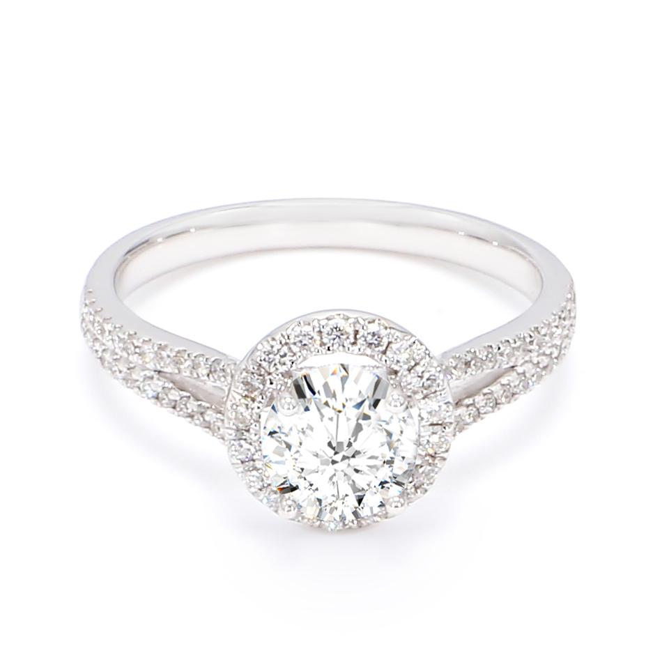 18K White Gold Astra Diamond Engagement Ring