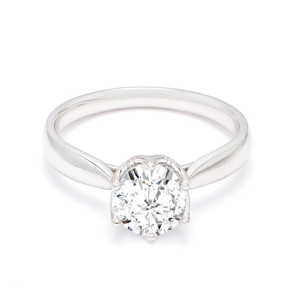 18K White Gold Hart Diamond Engagement Ring