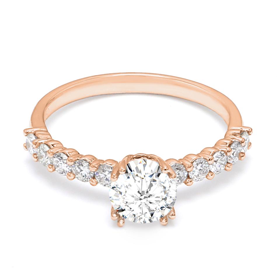 18K Rose Gold Dulcet Diamond Engagement Ring