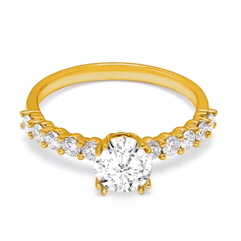 18K Yellow Gold Dulcet Diamond Engagement Ring