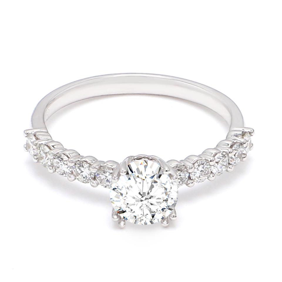18K White Gold Dulcet Diamond Engagement Ring
