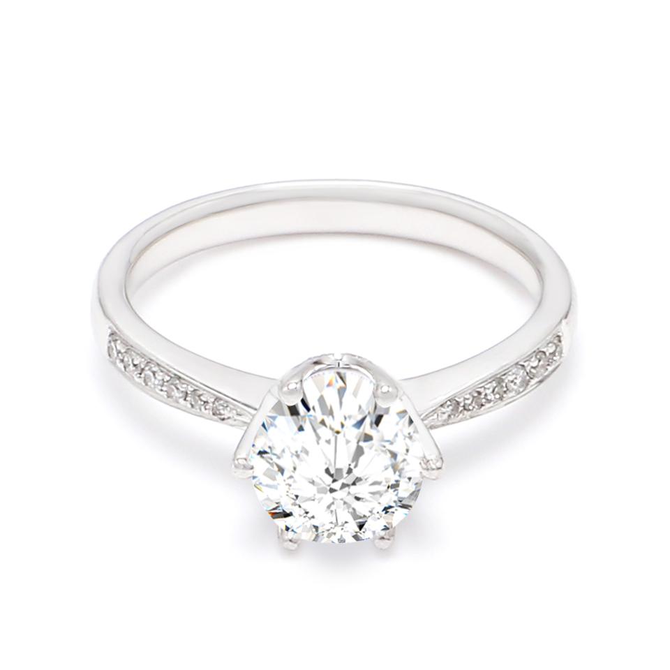 18K White Gold Peon Diamond Engagement Ring