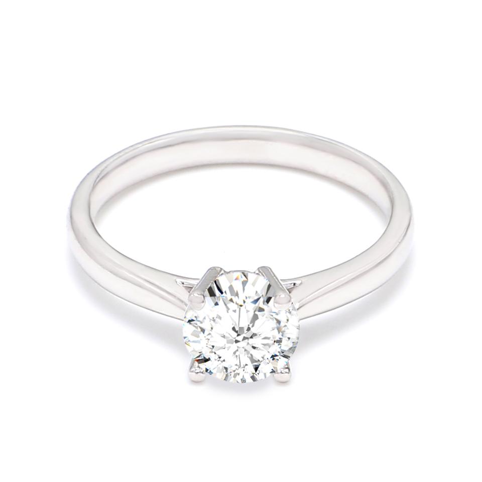 18K White Gold Eve Diamond Engagement Ring