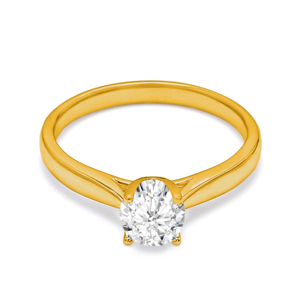 18K Yellow Gold Mary Diamond Engagement Ring