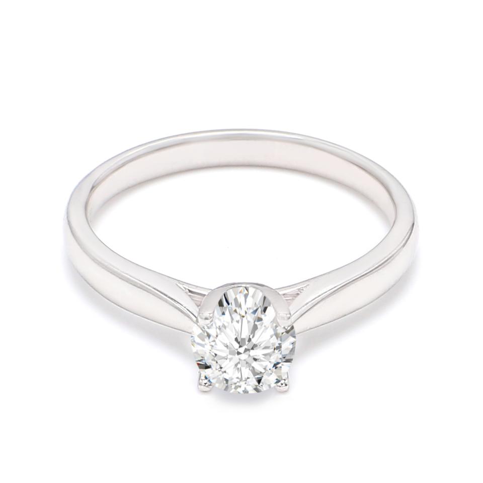 18K White Gold Mary Diamond Engagement Ring