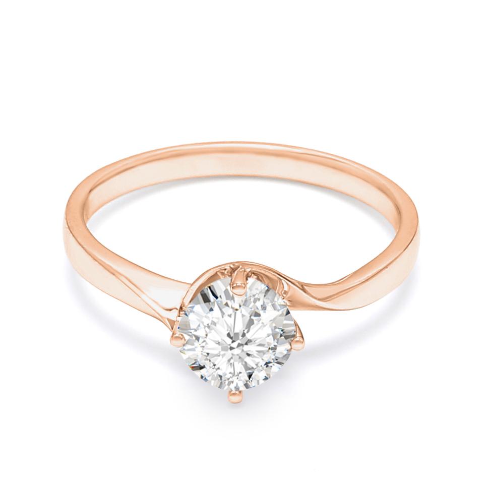 18K Rose Gold Cherie Diamond Engagement Ring