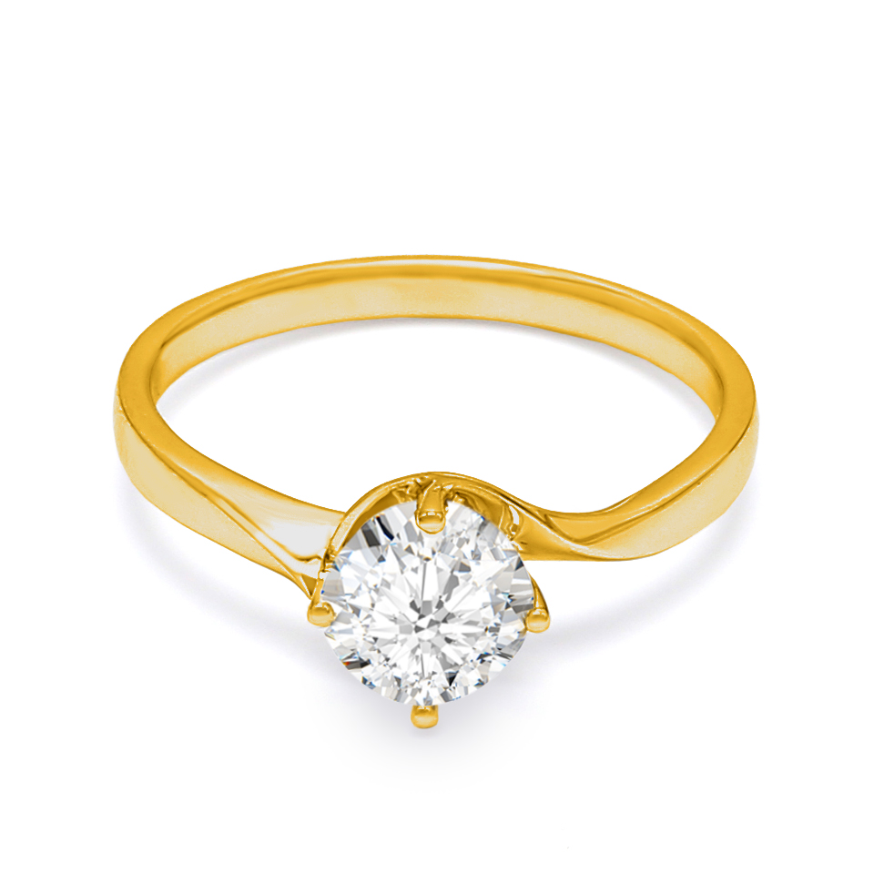 18K Yellow Gold Cherie Diamond Engagement Ring