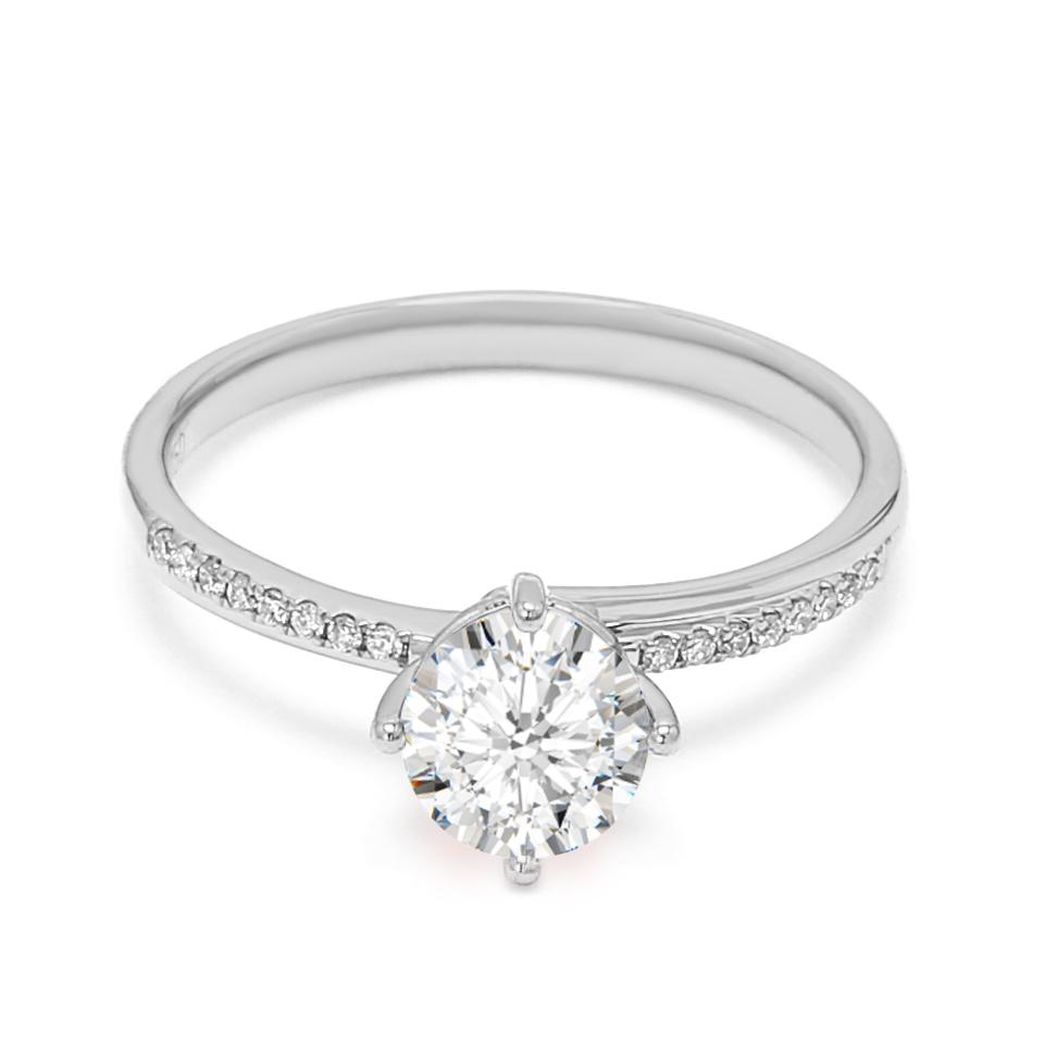 18K White Gold Dusk Diamond Engagement Ring
