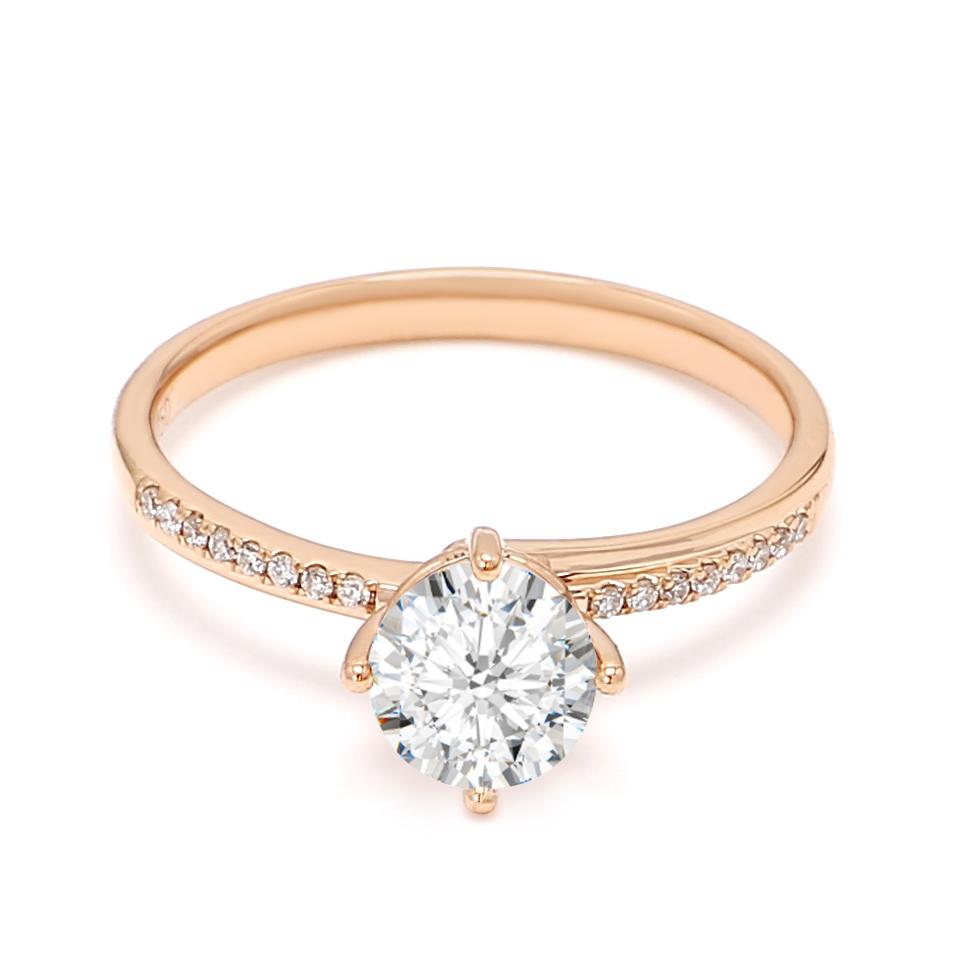 18K Rose Gold Dusk Diamond Engagement Ring