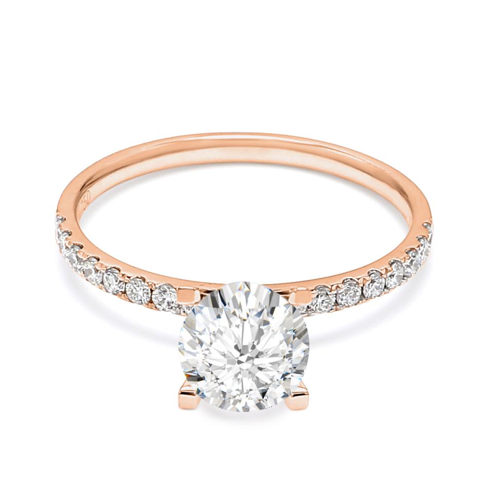 18K Rose Gold Cypher Diamond Engagement Ring
