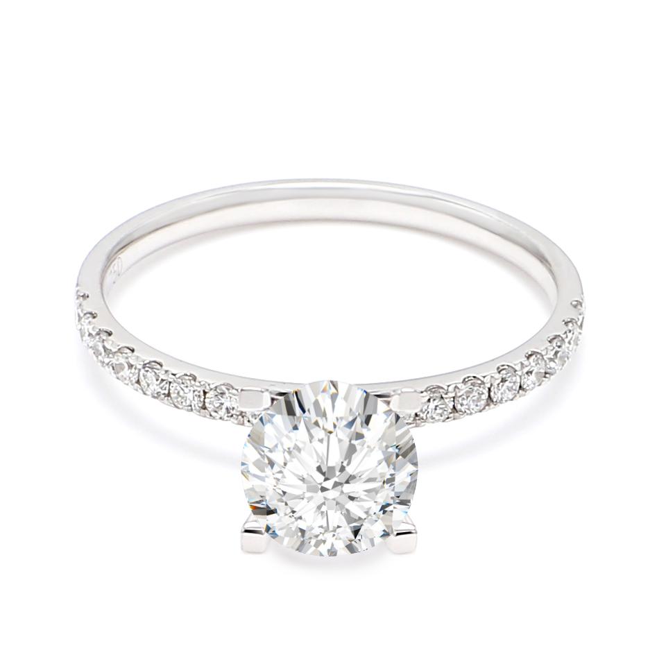 18K White Gold Cypher Diamond Engagement Ring