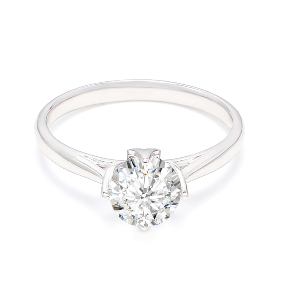18K White Gold Calin Diamond Engagement Ring