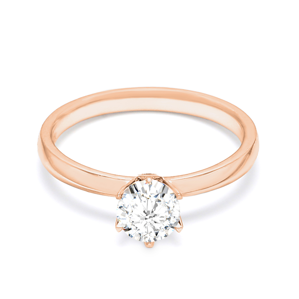 18K Rose Gold Venus Diamond Engagement Ring