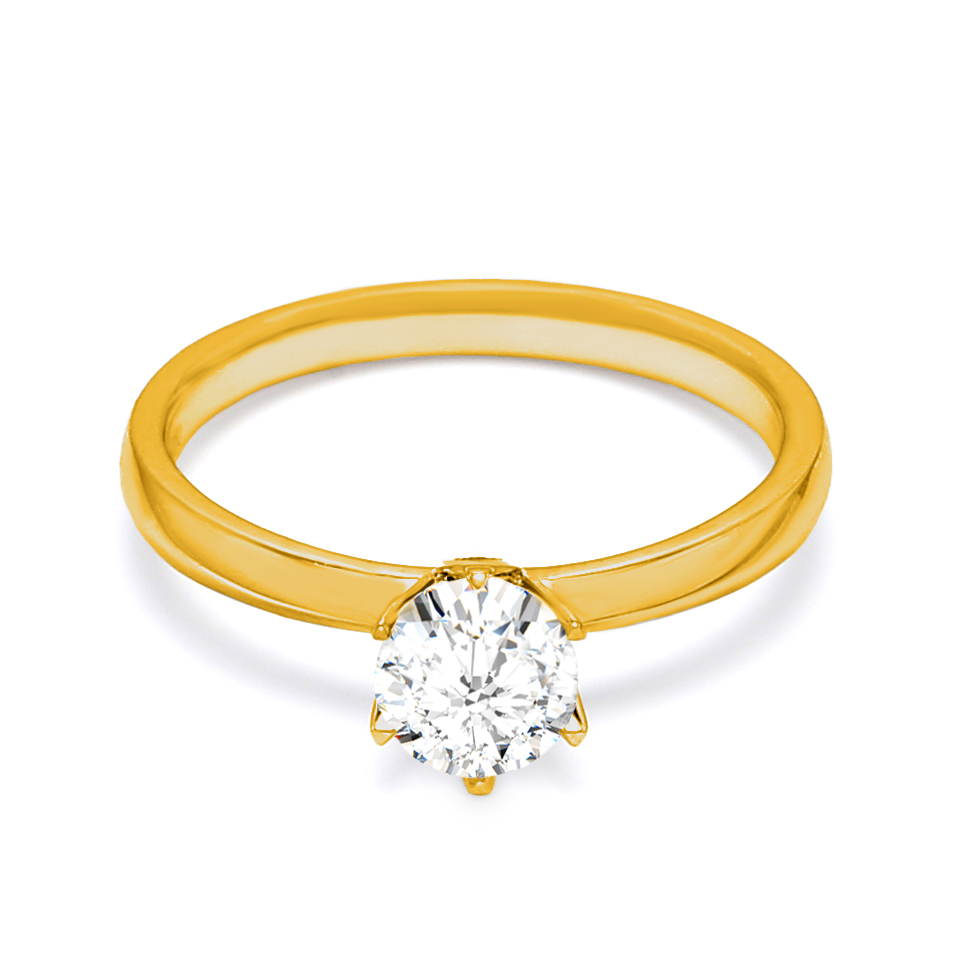 18K Yellow Gold Venus Diamond Engagement Ring