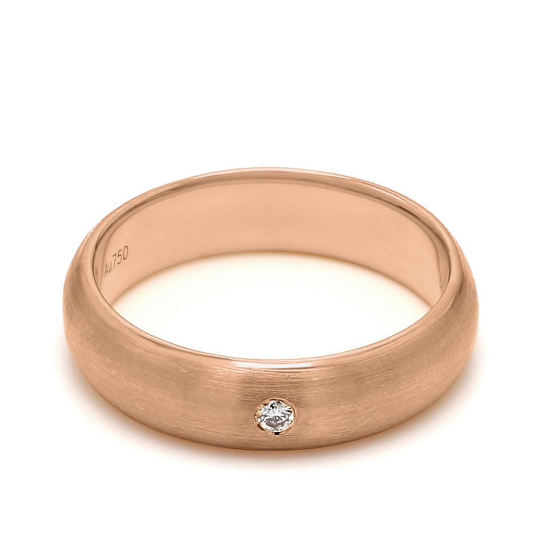 18K Rose Gold Helene Diamond Men Wedding Band