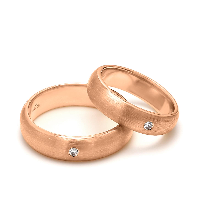 18K Rose Gold Helene Diamond Wedding Band