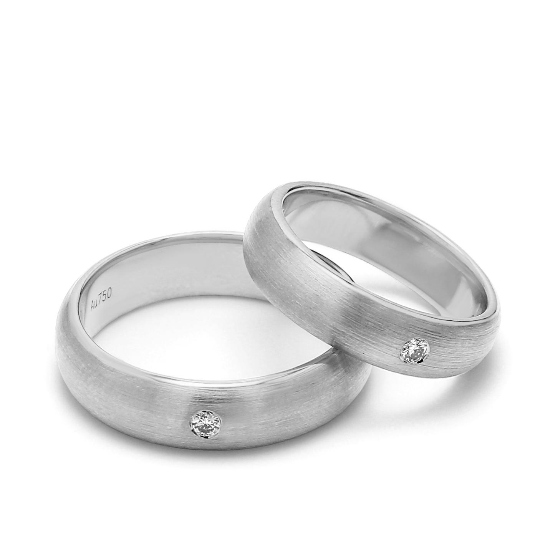 18K White Gold Helene Diamond Wedding Band
