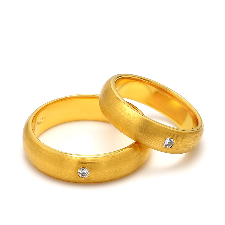 18K Yellow Gold Helene Diamond Wedding Band