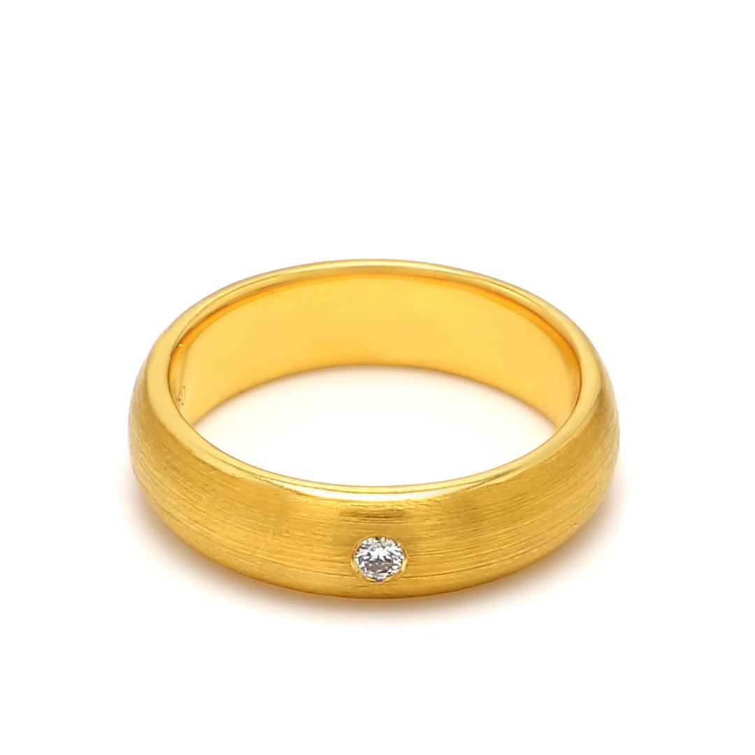 18K Yellow Gold Helene Diamond Women Wedding Band