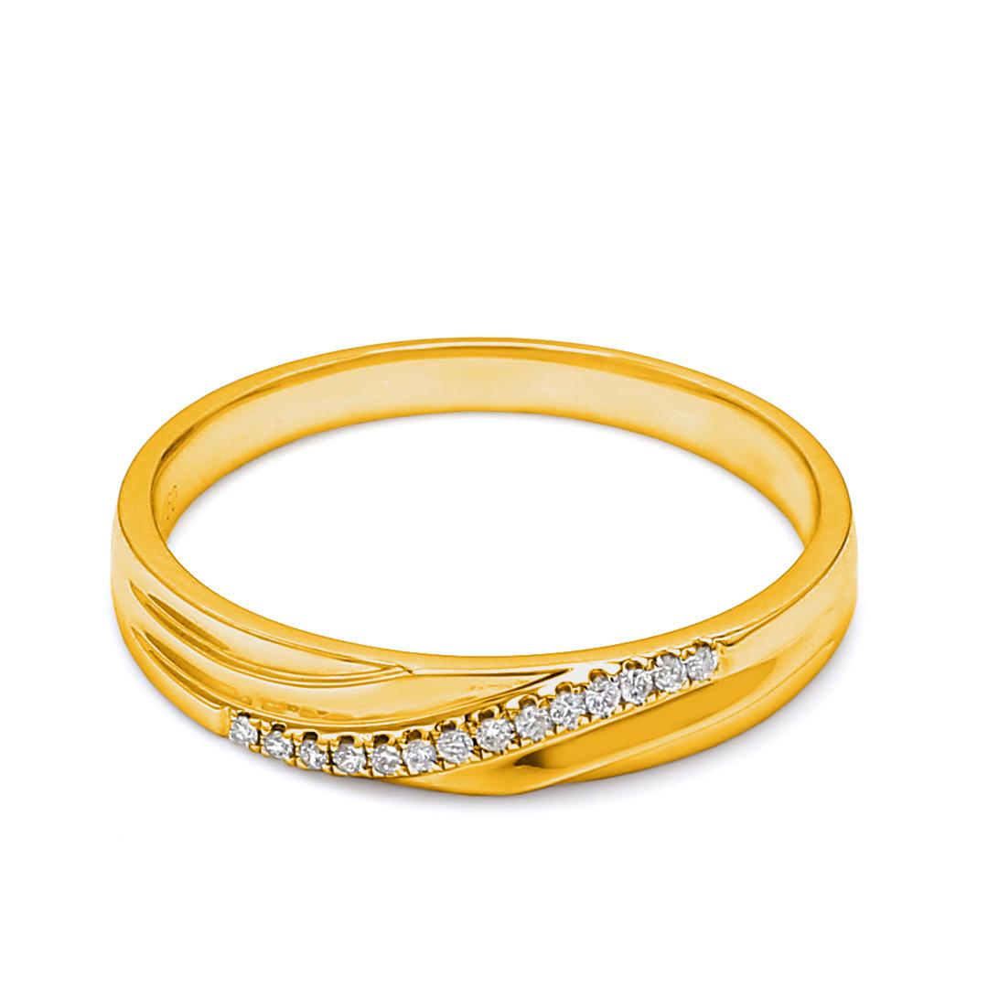 18K Yellow Gold Kayle Diamond Wedding Band