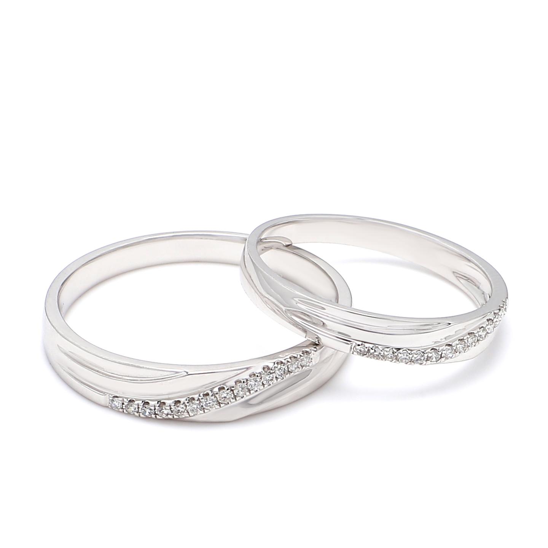 18K White Gold Kayle Diamond Wedding Band
