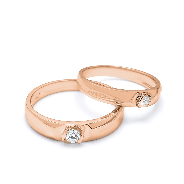 18K Rose Gold Lyra Diamond Wedding Band