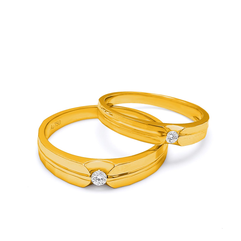 18K Yellow Gold Ophelia Diamond Wedding Band