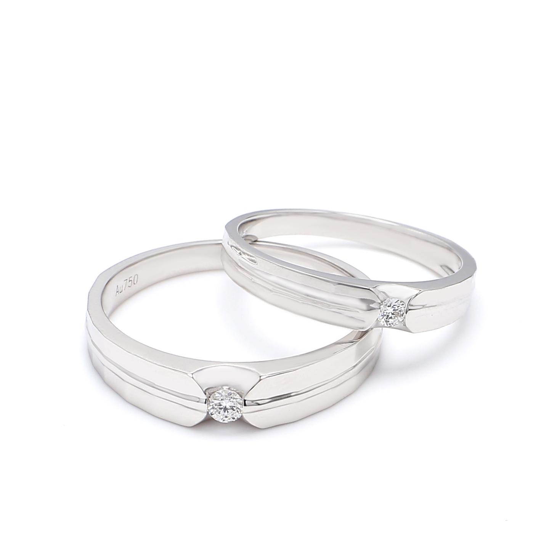 18K White Gold Ophelia Diamond Wedding Band
