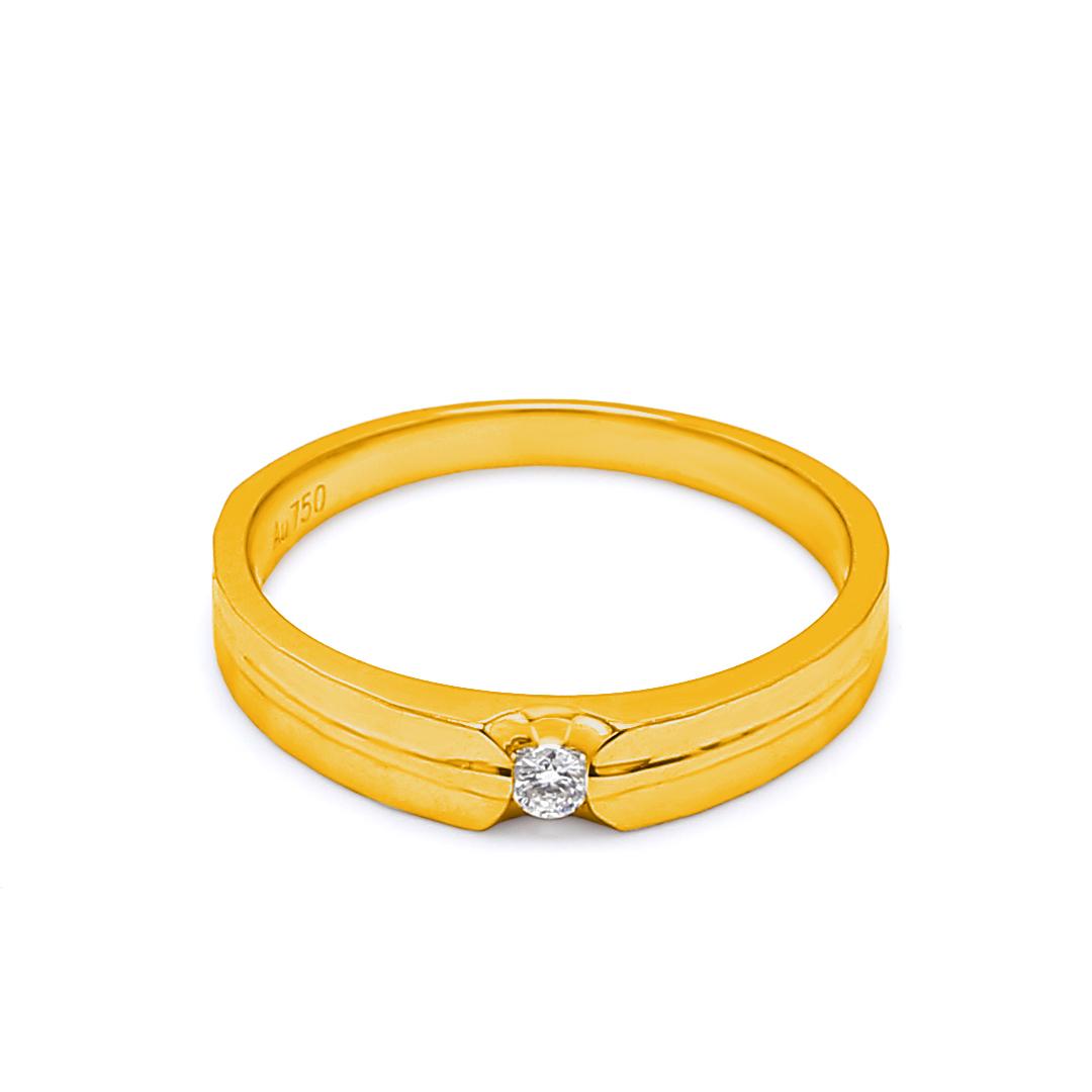 18K Yellow Gold Ophelia Diamond Women Wedding Band